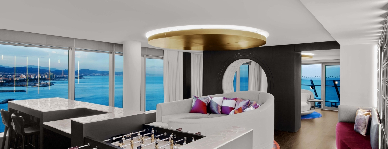 WOW Suite Living Room at W Barcelona